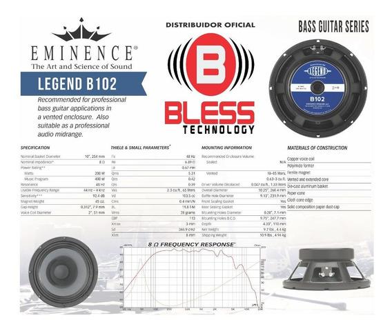 Alto Falante Eminence Legend B-102 10 200w 8 Ohms - Baixo