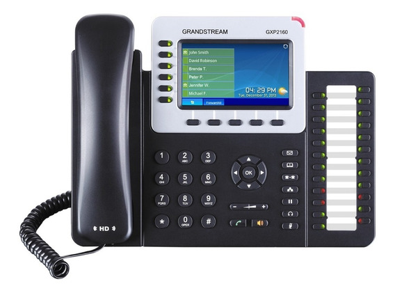 Teléfono Ip Empresarial 6 Líneas A Color Gxp2160 Grandstream
