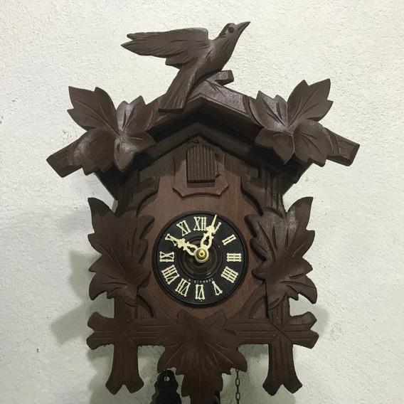 Hermoso Reloj Cucu F Madera 2 Cuerdas Alemán Chocolate S-nvo