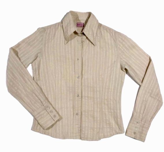 Camisa Mancini Entallada De Mujer Blusa T. S/m