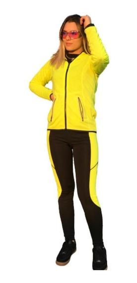 Conjunto Blusa Moda Drifiti Feminino Calça Corrida Academia