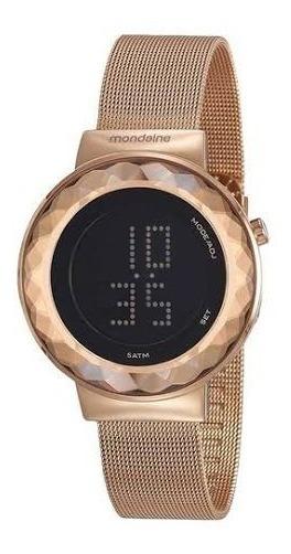 Relógio Mondaine Feminino Com Caixa E Pulseira Em Metal Rose