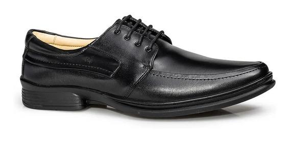 Sapato Social Masculino Couro Cordão