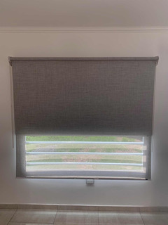 Cortinas Roller Dobles Blackout 100% Usa + Sunscreen 3,5,13%