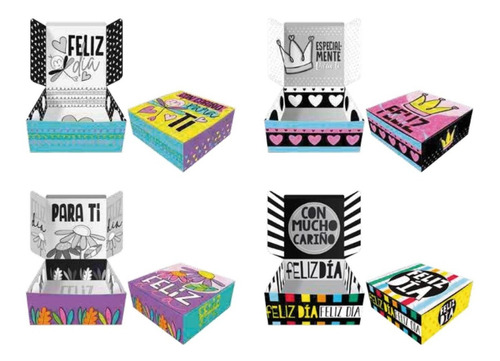 12 Cajas De Cumpleaños - Cajas Decoradas