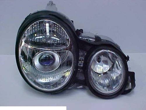 Head Lamp Farol Principal Lh W210 Mercedes 95-99 Crystal