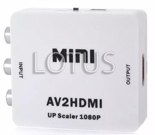 Mini Adaptador Rca Av/hdmi Frete Grátis