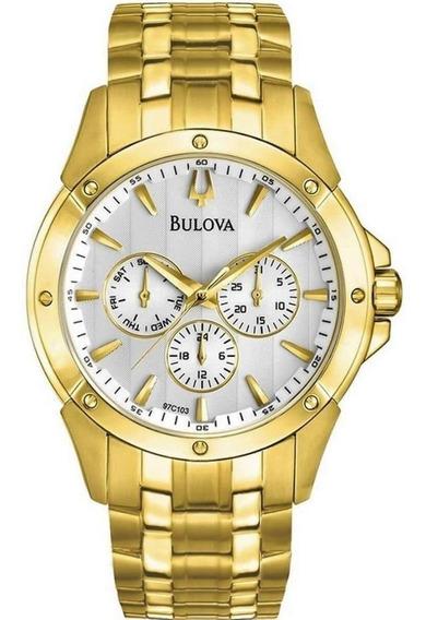 Relógio Masculino Dourado Bulova Wb21927h