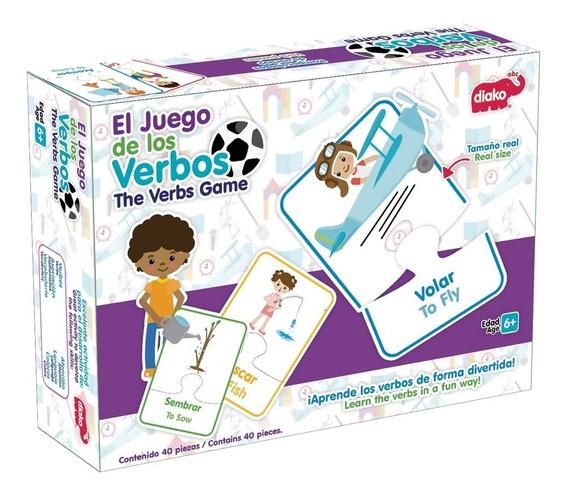 Rompecabezas Los Verbos En Ingles Y Español Niños Maestros