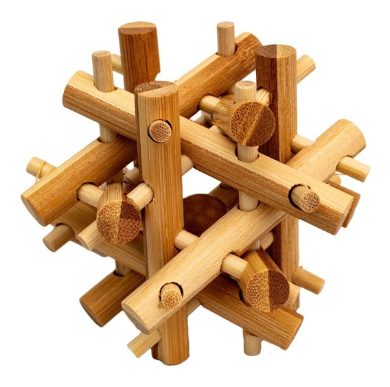 Rompecabezas De Bamboo Assorted Kikkerland Juego Mente