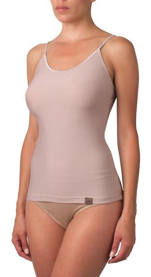 Camiseta Microfibra Bretel Mujer Bajo Blusa Selu 6504