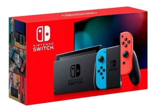 Nintendo Switch Neon 12 Cuotas + Mica De Vidrio/garantía1año