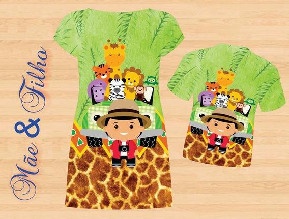 Vestido E Blusa Mãe E Filho - Safari Cute