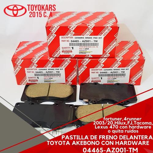 Pastillas De Freno Fortuner/4runner/hilux 2003-18 Delanteras