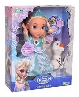 Muñeca Frozen Glowing Elsa Canta Y Se Ilumina Orig Ditoys