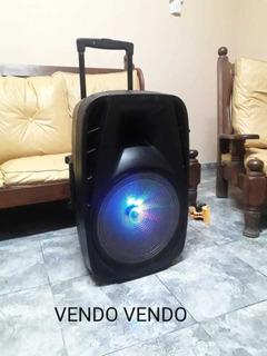 Parlante Noga 15 Como Nuevo (usb-bluetooth-radio-luces)