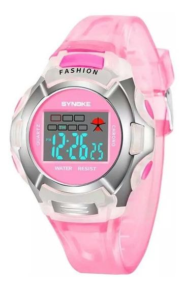 Relógios Infantil Menina Digital Led Alarme