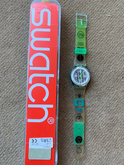 Relogio Swatch Yss271 ,movimento Solar, An 2014, Sem Uso. Cx