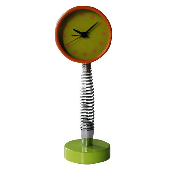 Reloj Espiral Naranja Y Verde