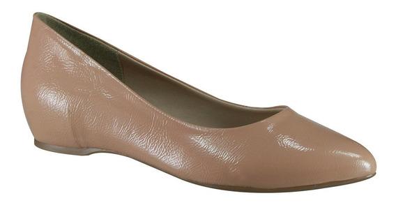 Sapato Feminino Azaleia Ref.533/807 Nude Verniz