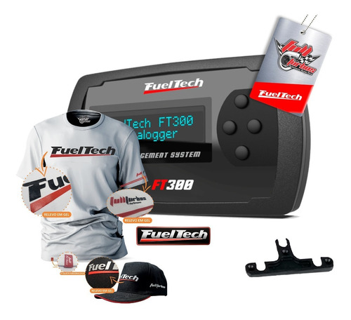 Fueltech Ft300 S/ Chic + Mega Brinde Camiseta Branca Gel+bp