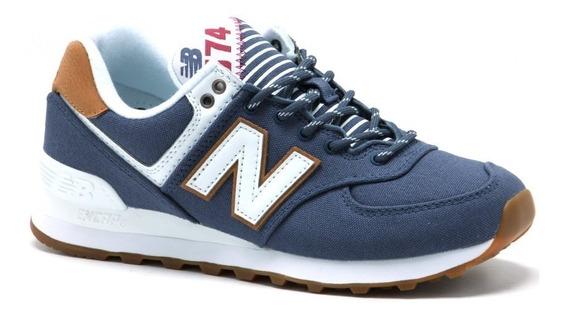 Zapatillas New Balance Wl574 Urbanas Azul Mujer