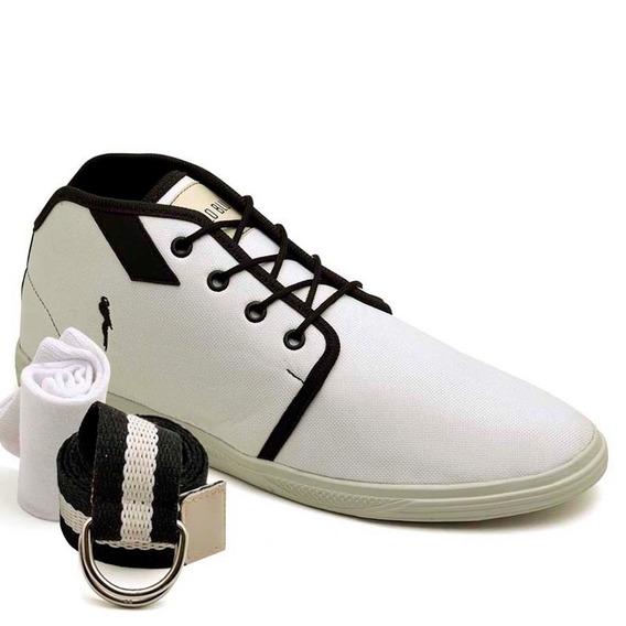 Sapatenis 400 Kit Cinto E Meia Tenis Polo Blu Barato Sapato