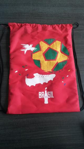 Sacola Mochila Coca Cola Brasil Original Unissex 10 Unds