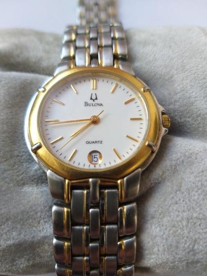 Relógio Bulova Se-1204 Prata E Dourado