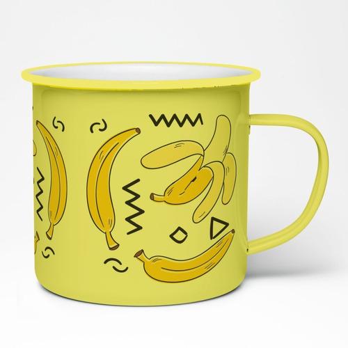 Imagen 1 de 2 de Taza Peltre 11oz  Platanos - Bananas