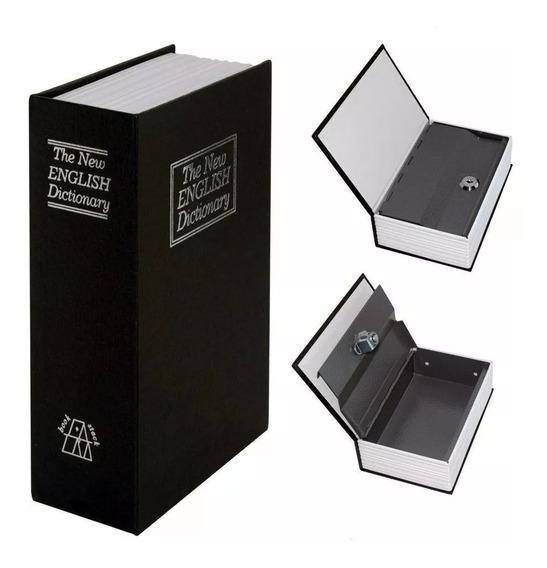 Cofre - G R A N D E - Camuflado Livro 2 Chaves Porta Joias