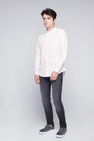 Camisas Zara Slim Cuello Neru Hombre