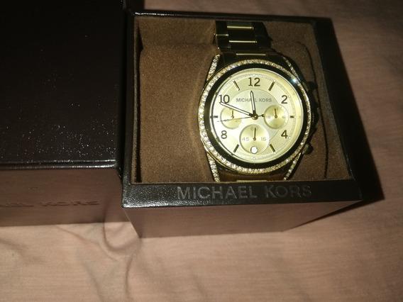 Reloj Mk Dorado Original