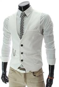 Chaleco Formal Casual Elegante Para Traje Camisa Con Cadena