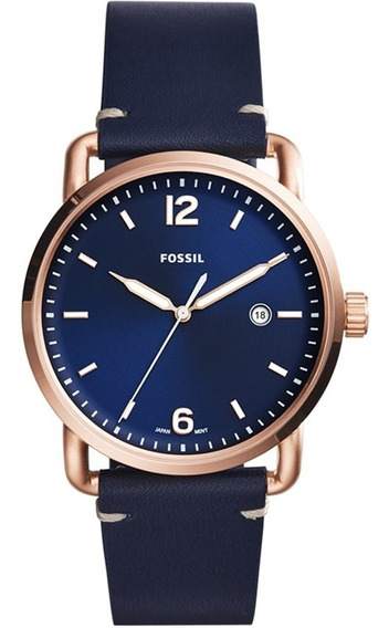 Relógio Masculino Fossil Commuter Fs5274/3an Visor E Pulseir