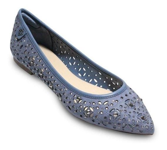 Sapato Feminino Sapatilha Azul Capodarte Conforto Original