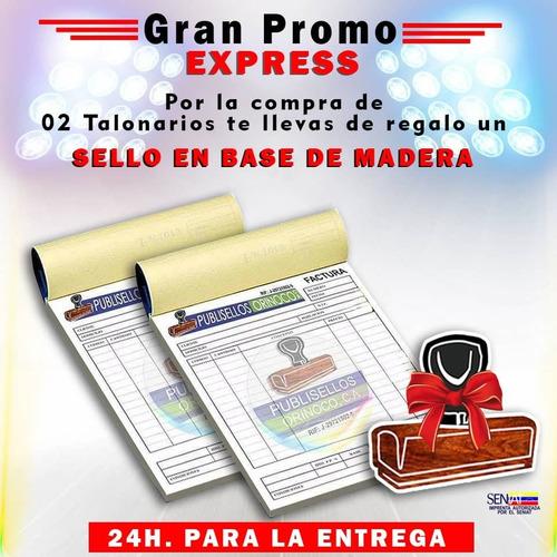 Talonarios De Facturas  Seniat Y Sellos.