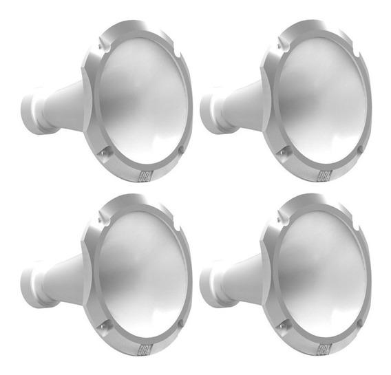 Kit 4 Boca Corneta Cone Lente Alumínio Jbl 11-25 Trio Branca