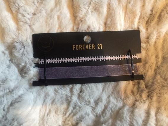 Forever 21 Chocker Set De 2 Piezas