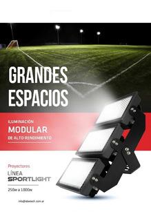 Kit Reflectores Para Cancha De Futbol 11, Rugby, Hockey, Etc