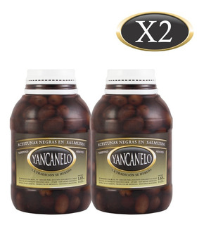 Aceitunas Negras Yancanelo Bidón 1 Kg X 2 U