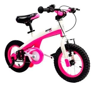 Bicicletas Rodado 12 Rosa Stark Nena Infantil Con Rueditas