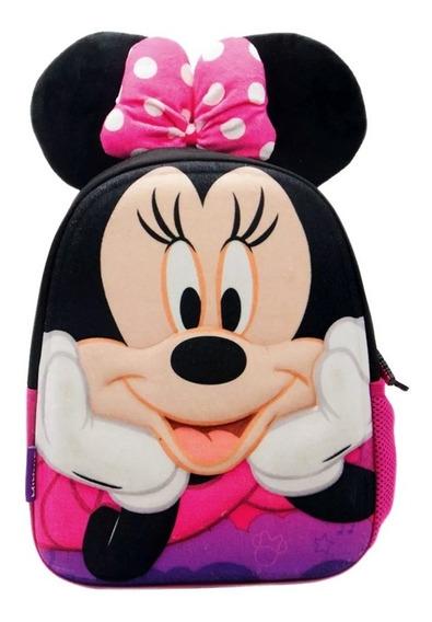 Mochila Minnie Mouse Con Orejas Espalda 12 Pulgadas Jardín