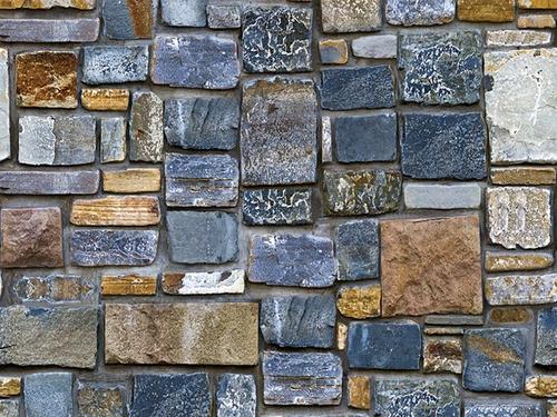 Imagen 1 de 8 de Papel Tapiz Piedras Rocas Ladrillos Adhesivo Pared Sala