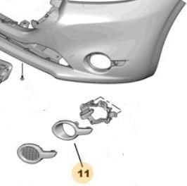 Imagen 1 de 3 de Aro Cromado Faro Auxiliar Delant Izq Peugeot 208 1.5 16v