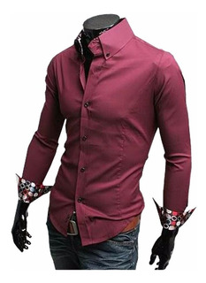 Camisas Slim Fit Entalladas De Vestir Casual Quality Import
