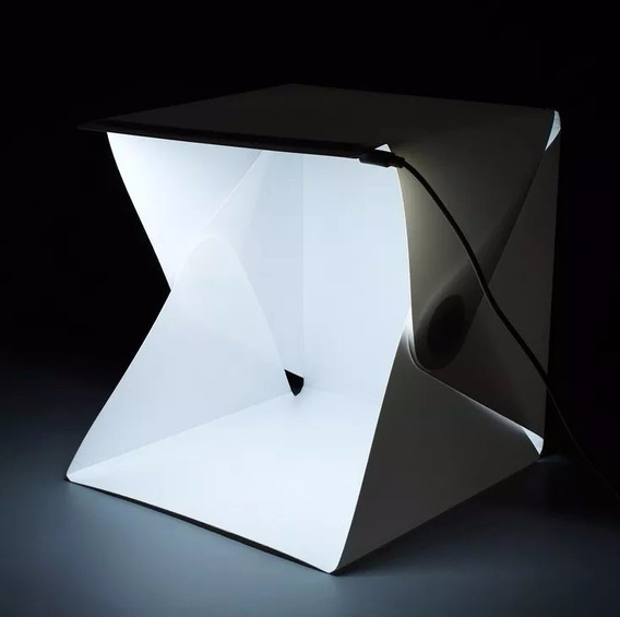 Mini Estúdio Fotográfico Com Iluminação Led Embutida