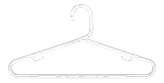 100 Cabides Acrilico 8mm Transparente Linha Top Premium