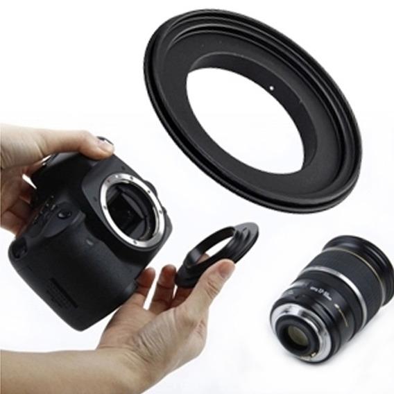 Anel Inversor Reverso Nikon Ai 49mm 52mm 55mm 58mm 62mm