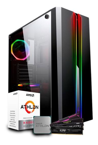 Pc Gamer Amd Athlon 200ge / Ssd 240gb / Gabinete Odyssey Rgb